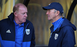 "West Bromwich Albion manager Tony Pulis (right) talks with Assistant Head Coach Gary Megson (left) during the pre-season friendly match at Vale Park, Stoke. PRESS ASSOCIATION Photo. Picture date: Tuesday August 1, 2017. See PA story SOCCER Port Vale. Photo credit should read: Nick Potts/PA Wire. RESTRICTIONS: EDITORIAL USE ONLY No use with unauthorised audio, video, data, fixture lists, club/league logos or ""live"" services. Online in-match use limited to 75 images, no video emulation. No use in betting, games or single club/league/player publications."