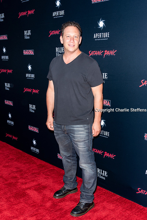 ADAM GOLDWORM attends the Los Angeles premiere of Satanic Panic at the Egyptian Theatre in Los Angeles, California.