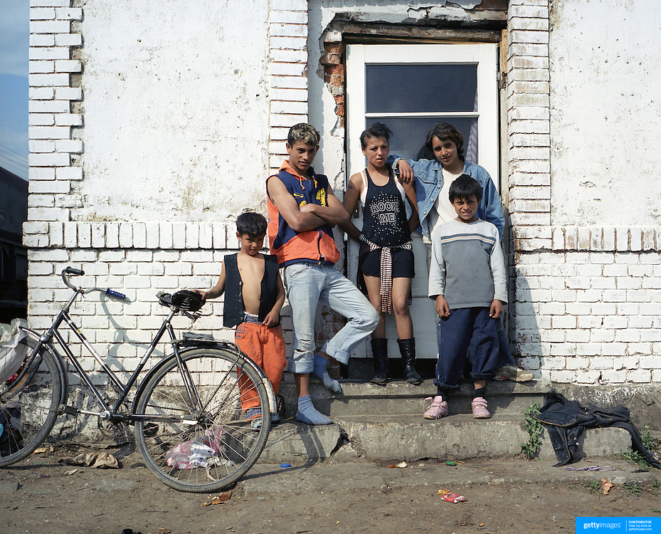 A young family living in poverty  in Transylvania, Romania. 23rd July 2011. Photo Tim Clayton