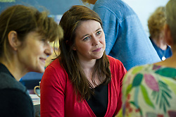 Pictured: Aileen Campbell<br /> <br /> Public Health Minister Aileen Campbell and Cosla health and social care spokesman Peter Johnston visited the Ripple project in Edinburgh today to launch their joint launch public health priorities for Scotland<br /> <br /> Ger Harley   EEm 14 June 2018