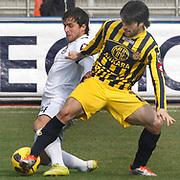 Ankaragucu's Adem KOCAK (R) during their Turkish superleague soccer match Kasimpasa between Ankaragucu at the Recep Tayyip Erdogan stadium in Istanbul Turkey on Saturday 19 February 2011. Photo by TURKPIX