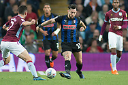 John McGinn of Aston Villa (7) waits to tackle Richard Towell of Rotherham United (13) during the EFL Sky Bet Championship match between Aston Villa and Rotherham United at Villa Park, Birmingham, England on 18 September 2018.