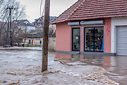Feb. 6, 2015 - Gjilan, Kosovo - A general view shows flooded area in Livoc i Ulet village, near Gjilan, Kosovo, 06 February 2015. Heavy rain and snow caused rivers to flood thousands of hectares of land, homes and many roads across Kosovo's southern corner. Many areas in southern Kosovo are about to remain without water supply. (Credit Image: © Vedat Xhymshiti/ZUMA Wire)