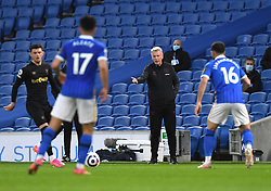 West Ham United manager David Moyes (centre) instructs his players during the Premier League match at the American Express Community Stadium, Brighton. Picture date: Saturday May 15, 2021.