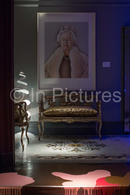 Chris Levines Equanimity portrait of The Queen at Sketch London on the 20th March 2019 in Mayfair, London in the United Kingdom. Chris Levine was commissioned by the Jersey Heritage Trust to create a portrait of Queen Elizabeth II in 2004.