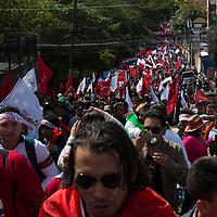 Large crowds demonstrated against Juan Orlando Hernández and electoral fraud.