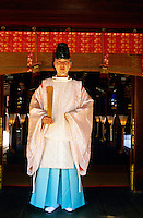Kariginu (costume), Shinto ceremony, Shimogamo Shrine, Kyoto, Japan