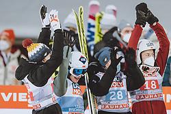 06.01.2021, Paul Außerleitner Schanze, Bischofshofen, AUT, FIS Weltcup Skisprung, Vierschanzentournee, Bischofshofen, Finale, im Bild Dawid Kubacki, Gesamtsieger Kamil Stoch (POL), Piotr Zyla, Aleksander Zniszczol // Dawid Kubacki Overall Winner Kamil Stoch of Poland Piotr Zyla Aleksander Zniszczol during the final of the Four Hills Tournament of FIS Ski Jumping World Cup at the Paul Außerleitner Schanze in Bischofshofen, Austria on 2021/01/06. EXPA Pictures © 2020, PhotoCredit: EXPA/ JFK