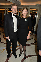 The HON.PETER STANLEY and his wife FRANCES at the 24th Cartier Racing Awards held at The Dorchester, Park Lane, London on 11th November 2014.