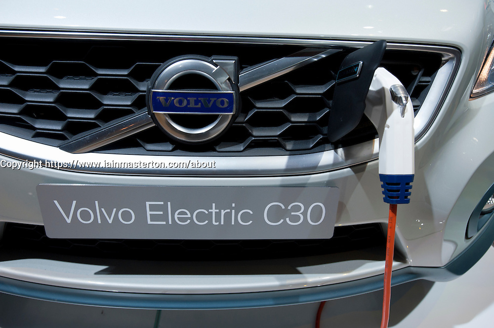 Plug-in electric Volvo C30 car at Paris Motor Show 2010