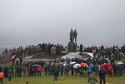 Crowds during a Remembrance Sunday service at the Commando Memorial near Fort William, held in tribute for members of the armed forces who have died in major conflicts.