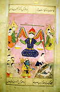Arab manuscript depicting angel weighing a soul.
