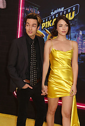 May 2, 2019 - New York City, New York, U.S. - Actor VIOLETT BEANE and GUEST attend the US premiere of Pokemon Detective Pikachu held at Military Island Times Square. (Credit Image: © Nancy Kaszerman/ZUMA Wire)
