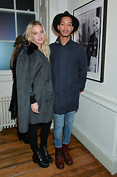 HARLEY ALEXANDER-SULE and LAURA HAYDEN at a private view of Chris Stein/Negative: Me, Blondie And The Advent Of Punk, held at Somerset House, The Strand, London on 5th November 2014.