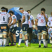 GALWAY, IRELAND:  October 01:   Dejected Bulls players after conceding another try in the final play of the game during the Connacht V Vodacom Bulls, United Rugby Championship match at The Sportsground on October 1st, 2021 in Galway, Ireland. (Photo by Tim Clayton/Corbis via Getty Images)