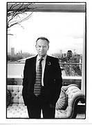 Jeffrey Archer in his flat. London. 1999. © Copyright Photograph by Dafydd Jones 66 Stockwell Park Rd. London SW9 0DA Tel 020 7733 0108 www.dafjones.com
