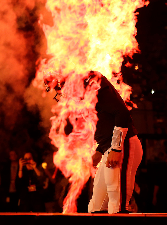 Houston Texans starting quarterback Tom Savage is introduced before an NFL football game against the Cincinnati Bengals Saturday, Dec. 24, 2016, in Houston. (AP Photo/Sam Craft)