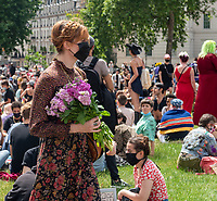 florence walsh spotted among the thousands of protesters marching  through central London to celebrate the black trans community and demonstrate against potential changes to the Gender Recognition Act photo Mark Anton Smith