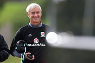 Ex Wales international and Liverpool star Ian Rush, now in the Welsh FA coaching set up arrives for the training session. Wales football team training at the Vale Resort in Hensol , South Wales on Monday 2nd October 2017, the team are preparing for their FIFA World Cup qualifier away to Georgia this week. pic by Andrew Orchard, Andrew Orchard sports photography