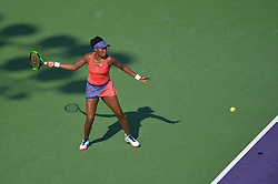 March 26, 2018 - Miami, FL, United States - KEY BISCAYNE, FL - March, 26: Venus Williams  in action here during the 2018 Miami Open on March 24, 2018, at the Tennis Center at Crandon Park in Key Biscayne, FL. (Credit Image: © Andrew Patron via ZUMA Wire)