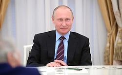 May 30, 2017 - Moscow, Russia - May 30, 2017. - Russia, Moscow. - Russian President Vladimir Putin's working meeting with academicians from the Russian Academy of Sciences  (Credit Image: © Russian Look via ZUMA Wire)