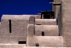 Architectural Detail of Adobe Building