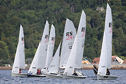 Peelport Clydeport Largs Regatta Week 2013 <br /> <br /> RS200 Fleet, Start<br /> Largs Sailing Club, Largs Yacht Haven, Scottish Sailing Institute