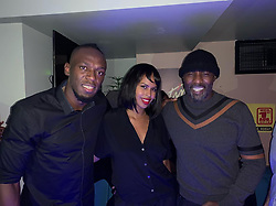 """Usain Bolt releases a photo on Instagram with the following caption: """"It doesn\u2019t get any better than this @idriselba @sabrinadhowre #TracksandRecordsParty #JamaicanVibes\ud83c\uddef\ud83c\uddf2"""". Photo Credit: Instagram *** No USA Distribution *** For Editorial Use Only *** Not to be Published in Books or Photo Books ***  Please note: Fees charged by the agency are for the agency's services only, and do not, nor are they intended to, convey to the user any ownership of Copyright or License in the material. The agency does not claim any ownership including but not limited to Copyright or License in the attached material. By publishing this material you expressly agree to indemnify and to hold the agency and its directors, shareholders and employees harmless from any loss, claims, damages, demands, expenses (including legal fees), or any causes of action or allegation against the agency arising out of or connected in any way with publication of the material."""