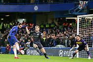 Chelsea Forward Gonzalo Higuain on loan from Juventus shoots at goal during the The FA Cup fourth round match between Chelsea and Sheffield Wednesday at Stamford Bridge, London, England on 27 January 2019.