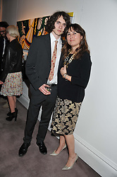 ALEXANDRA SHULMAN and her son SAM SPIKE at a party to celebrate the publication of Can We Still Be Friends by Alexandra Shulman held at Sotheby's, 34-35 New Bond street, London on 28th March 2012.