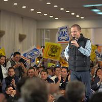 Toluca, México (Enero 08, 2018).- Ricardo Anaya, precandidato a la Presidencia de la República por el Partido Acción Nacional (PAN), de la Revolución Democrática y Movimiento Ciudadano, reconoció y agradeció la decisión lección de Rafael Moreno Valle de no ir a la candidatura presidencial.  Agencia MVT / Crisanta Espinosa.