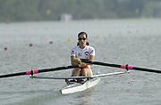 Seville, Andulucia, SPAIN<br /> <br /> 2002 World Rowing Championships - Seville - Spain Sunday 15/09/2002<br /> <br /> ESP LW 1X Xaxars De Mas<br /> <br /> [Mandatory Credit:Peter SPURRIER/Intersport Images]