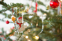 Part of decorated Christmas tree