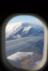 View Of Mountains Out of Plane On The Way to Tiputini