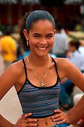 PUERTO RICO, PORTRAITS teenage girl