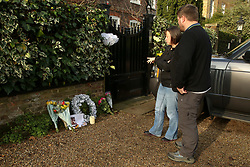 © Licensed to London News Pictures. 29/12/2019. London, UK. GEORGE MICHAEL'S fans read tributes outside the singer former house in north London, after the death of his younger sister, MELANIE PANAYIOTOU. MELANIE PANAYIOTOU'S body was found on Christmas Day exactly three years after GEORGE MICHAEL'S death. Photo credit: Dinendra Haria/LNP