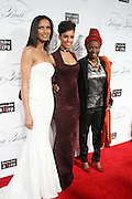 """December 6, 2012- New York, NY: (L-R) Author/Model/Actress Padma Laksmi, Recording Artist Alicia Keys, and Recording Artist Angelique Kidjo attends the ' Keep A Child Alive Black Ball """" Redux """" 2012 ' held at the Apollo Theater on December 6, 2012 in Harlem, New York City. The Benefit pays homage to Oprah Winfrey, Angelique Kidjo for their philanthropic contributions in Africa and worldwide and celebrates the power of woman and the promise of an AIDS-free Africa. (Terrence Jennings)"""