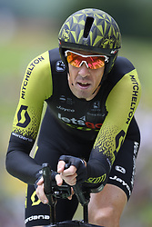 July 28, 2018 - Espelette, France - ESPELETTE, FRANCE - JULY 28 :  HAYMAN Mathew (AUS) of Mitchelton - Scott during stage 20 of the 105th edition of the 2018 Tour de France cycling race, an individual time-trial stage of 31 kms between Saint-Pee-sur-Nivelle and Espelette on July 28, 2018 in Espelette, France, 28/07/2018  (Credit Image: © Panoramic via ZUMA Press)