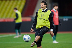 Zlatan Ljubijankic at practice of Slovenian team a day before FIFA World Cup 2010 Qualifying match between Russia and Slovenia, on November 13, 2009, in Stadium Luzhniki, Moscow, Russia.  (Photo by Vid Ponikvar / Sportida)