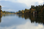 USA, Oregon, Lake Oswego, George Rogers Park, the Willamette River.