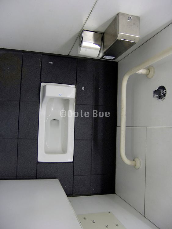 overhead view of an Asian toilet room