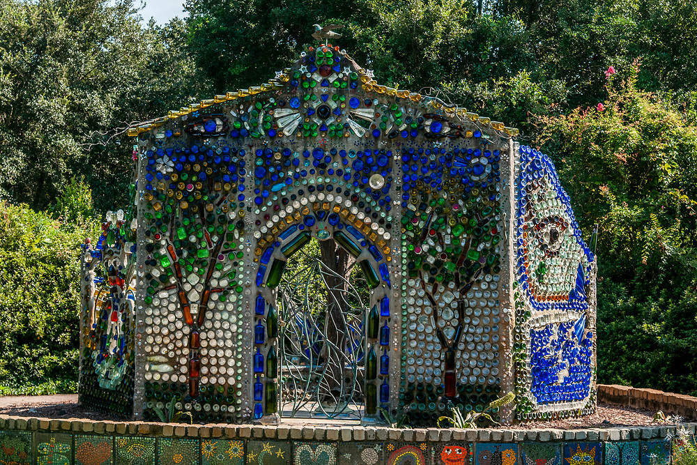 The Minnie Evans Bottle Chapel at Airlie Gardens in Wilmington, North Carolina on Tuesday, August 10, 2021. Copyright 2021 Jason Barnette