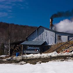 The sugar house at Sugarbush Farm in Woodstock, Vermont.