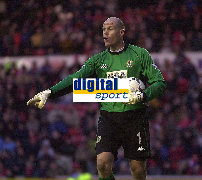 Photo. Glyn Thomas.<br /> Middlesbrough v Blackburn Rovers. Premiership. <br /> Riverside Stadium, Middlesbrough. 07/02/2004.<br /> Blackburn's keeper Brad Friedel, who had an outstanding game.