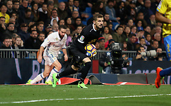 March 1, 2017 - Madrid, Spain - Las Palmas goalkeeper Javi Varas. La Liga Santander matchday 25 game between Real Madrid and Las Palmas ended with a 3-3 score. Santiago Bernabeu Stadium, Madrid, Spain. March 01, 2017. (Credit Image: © Antonio Pozo/VW Pics via ZUMA Wire/ZUMAPRESS.com)