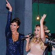 NLD/Amsterdam/20130411 - Bekendmaking Playmate of the Year 2012 NL, winnares Lotte Dancealot met Zimra Geurts