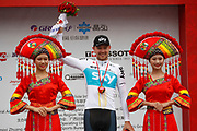 Podium Owain Doull (GBR - Team Sky) during the Tour of Guangxi 2018, Stage 3, Nanning - Nanning (125,4 km) on October 18, 2018 in Nanning, China - photo Luca Bettini / BettiniPhoto / ProSportsImages / DPPI