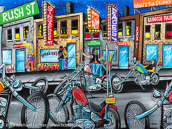 What's the Skinny? 2019 exhibition artwork from the Motorcycles as Art series at the Sturgis Buffalo Chip. Sturgis, SD, USA. Friday, August 2, 2019. Photography ©2019 Michael Lichter.