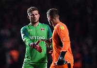 Football - 2018 / 2019 EFL Sky Bet League One - Play-Off Semi-Final, Second Leg: Charlton Athletic (2) vs. Doncaster Rovers (1)<br /> <br /> Charlton Athletic's Dillon Phillips shakes the hand of Doncaster Rovers' Marko Marosi before the penalty shoot out, at The Valley.<br /> <br /> COLORSPORT/ASHLEY WESTERN