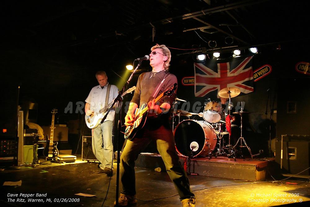 WARREN, MI, SATURDAY, JAN. 26, 2008: Dave Pepper Band,  at The Ritz, Warren, MI, 01/26/2008. (Image Credit: Michael Spleet / 2SnapsUp Photography)